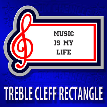 Treble Cleff Rectangle Patch