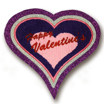 Valentine Heart Chenille Patch