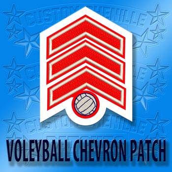 Volleyball Chevron Patch