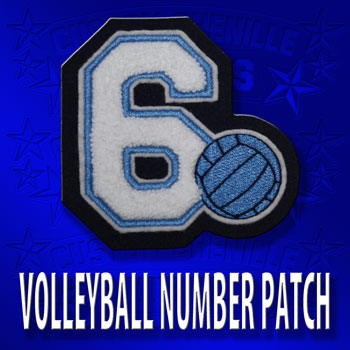 Volleyball Number Patch
