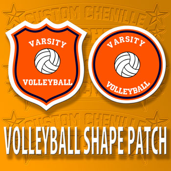 Volleyball Shape Patch