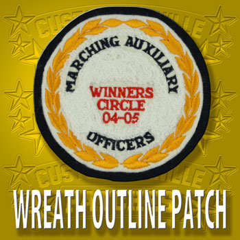 Wreath Outline Circle Patch