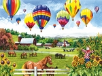 Balloons over Fences - 500 pieces