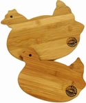 Bamboo Wood Cutting Board Set Pig or Rooster