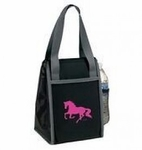 Black Lunch box with Galloping Horse