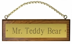 Brass Stall Plate on Wood Plaque