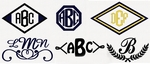 Click Here to View Embroidery Monograms