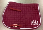 Embroidered Saddle Pad Monograms