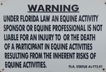 Equine Activity Warning Signs