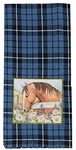 Grace & Beauty Blue Plaid Tea Towel