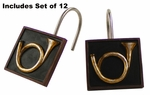 Hunting Horn Shower Curtain Hooks by York Home