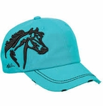 Lila Embroidered Hat
