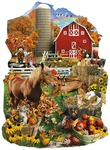 On the Farm Shaped - 1000 Pieces