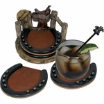 Rivers Edge Horseshoe Coaster set