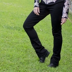 Royal Highness Low Rise Boot Cut Show Pants