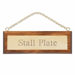 Plastic Stall Plate on Wood Plaque