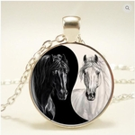 Ying/Yang Horses Necklace