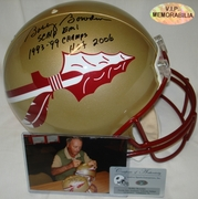 Bobby Bowden Hand Signed/Autographed Florida State Seminoles Full Size Authentic Football Helmet