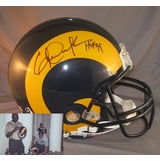 f0e652026ab Eric Dickerson Hand Signed   Autographed Los Angeles Rams Authentic Proline  Helmet