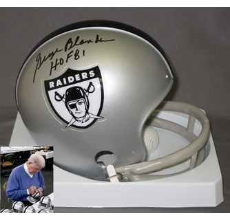 buy online 64f0c 2ddf4 George Blanda Hand Signed / Autographed Oakland Raiders Mini ...