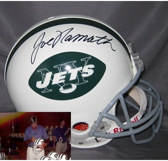 3006568b89a Joe Namath Hand Signed   Autographed New York Jets Authentic Helmet
