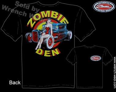 1930 1931 Ford T Shirt Hot Rod Clothing 30 31 Coupe Zombie Den Pin Up Shirts