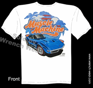 1968 1969 Corvette T Shirt C3 427 Stingray Apparel Chevrolet Tee Muscle Machine