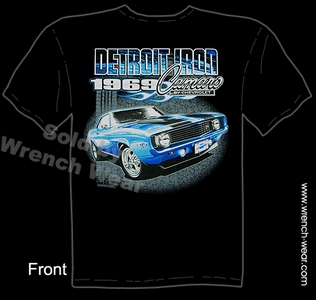 1969 Camaro T Shirt 69 Chevrolet Muscle Car Tee Detroit Iron