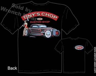 1933 1934 Ford Shirt 33 34 Coupe Hot Rod T Shirt Tiny's Chop Pin Up Wear