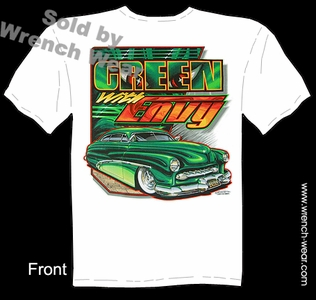 49 50 51 Mercury T Shirt Custom Car Tee 1949 1950 1951 Green With Envy Merc