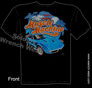 68 69 Corvette T Shirt C3 427 Stingray Clothing Chevrolet Tee Muscle Machine