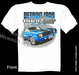 69 Camaro T Shirt 1969 Chevrolet Muscle Car Tee Detroit Iron