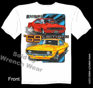 69 Camaro T Shirts 1969 Muscle Car Apparel Chevy Tee Street Smart