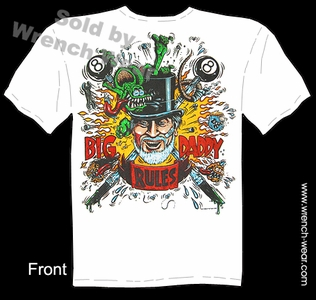 Big Daddy Clothing Big Daddy Rules Rat Fink T-shirt Ed Roth Shirts