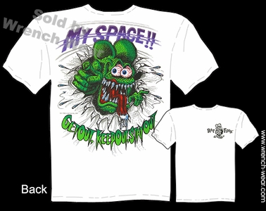 Big Daddy Clothing My Space Tee Rat Fink Apparel Ed Roth Tshirt