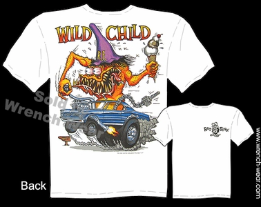 Big Daddy Clothing Rat Fink Shirt Wild Child GTO Ed Roth T Shirt