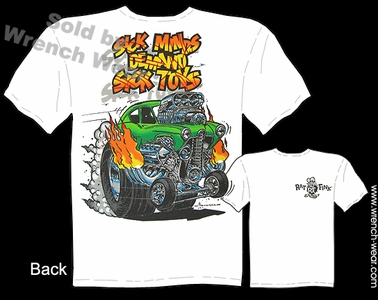 Big Daddy Shirt Sick Minds Demand Sick Toys Ed Roth Ratfink Tee Henry J Gasser