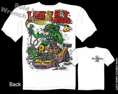 Big Daddy T Rat Fink T-shirt Eat, Sleep, Drink Hot Rods Beatnik Bandit II
