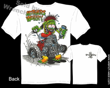 Big Daddy T 33 34 Ford Mothers Worry Ed Roth Rat Fink Tee 1933 1934 Coupe