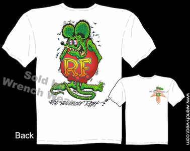 Rat Fink T-shirt Ed Roth Signature Tee Big Daddy T