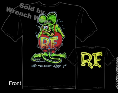 Rat Fink Tee Shirts Ed Roth Signature Black Big Daddy T Shirt