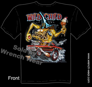 Big Daddy T Shirt Wild Child 1965 GTO 65 Pontiac Ed Roth Rat Fink Tee