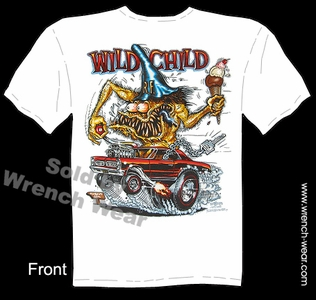 Big Daddy T Rat Fink Tee Shirts Wild Child 1965 GTO 65 Pontiac Ed Roth Clothing