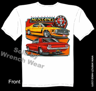 Boss Mustang Tshirt 64 65 66 70 Ford Tee 1964 1965 1966 1970 Wild Horses