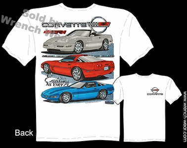 C4 Corvette T Shirt 84-96 Chevrolet ZR-1 Vette Apparel Exciting As Ever