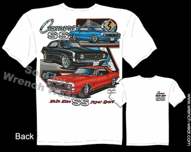 Camaro T Shirt 67 68 69 Muscle Car Shirts 1967 1968 1969 Chevy Tee Super Sport