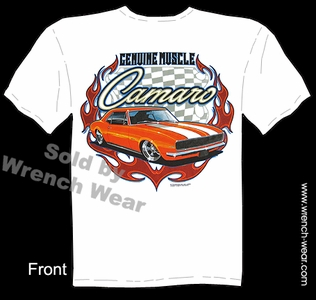 Camaro T Shirts 67 68 Chevrolet Shirts 1967 1968 Genuine Muscle Car Tee Shirts