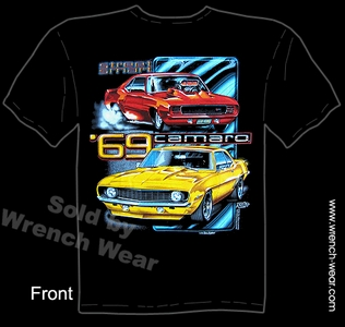 Camaro Tee Shirt 69 Muscle Car T Shirt 1969 Chevy Shirt Street Smart