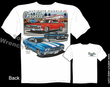 Chevelle Shirt 65 67 70 Muscle Car T Shirt 1965 1967 1970 Chevrolet Tee