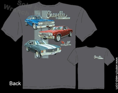 Chevelle Shirts 64 67 71 Chevy Tee 1964 1967 1971 Muscle Cars Shirts